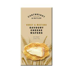 Cartwright & Butler Honey & Mustard Savoury Cheese Wafers (75g)