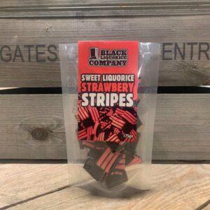 Black Liquorice Co Strawberry Stripes (175g)