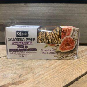 Olina's Bakehouse Sunflower & Fig Seeded Toasts Gluten Free (100g)