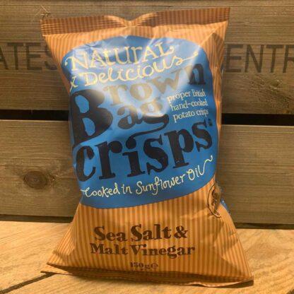 Brown Bag Crisps Gluten Free Sea Salt & Malt Vinegar (150g)