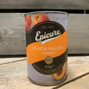 Epicure Peach Halves in Fruit Juice 410g
