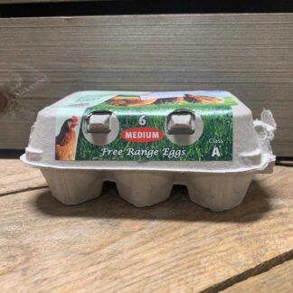 Medium Eggs (Pre Packed) 6 Free Range Eggs Class A