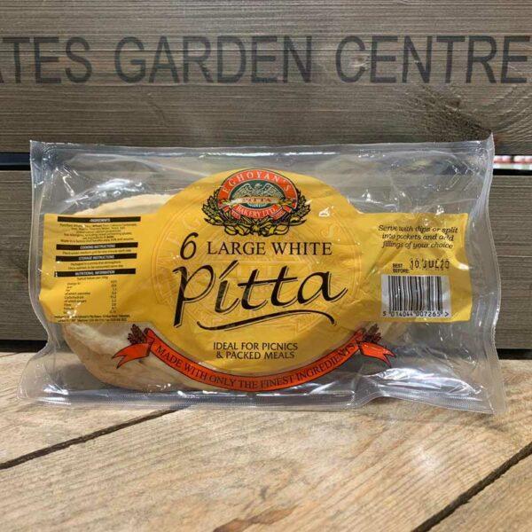 6 Large White Pitta Breads
