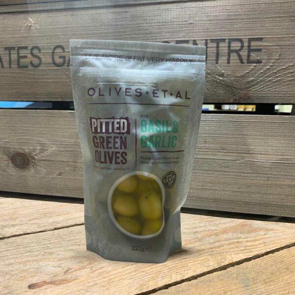 Olives Et Al - Pistou Pitted Basil & Garlic Olives - 221g