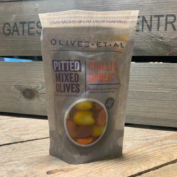 Olives Et Al - Classic Pitted Chilli & Garlic Olives - 221g