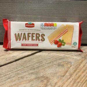 Artizano Strawberry Cream Wafers 100g