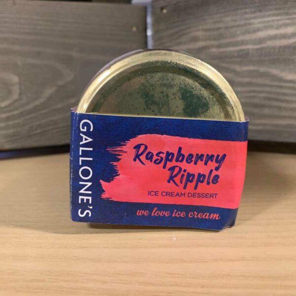 Gallone's Raspberry Ripple Glass Jar