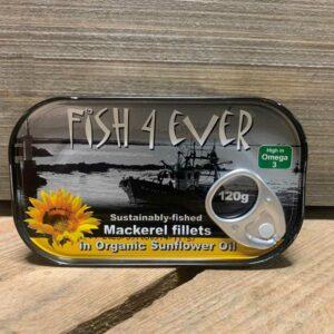 Fish 4 Ever- Mackerel in Sunflower Oil 120g