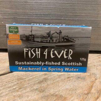 Fish 4 Ever- Mackerel in Spring Water 125g