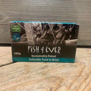 Fish 4 Ever- Yellowfin Tuna Fillets in Brine 120g