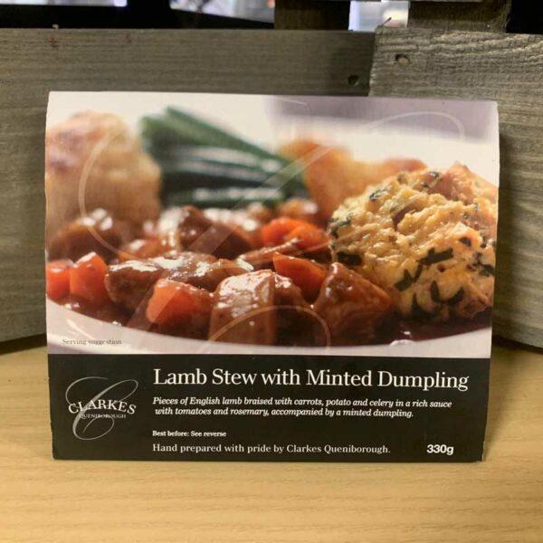 Clarkes Queniborough Lamb Stew With Minted Dumpling 330g