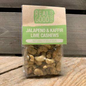 Real Good Food Co- Jalapeno & Kaffir Lime Cashews 125g