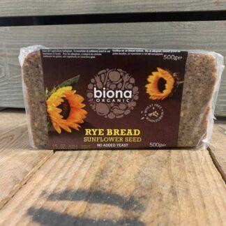 Biona Rye Sunflower Bread Organic 500g