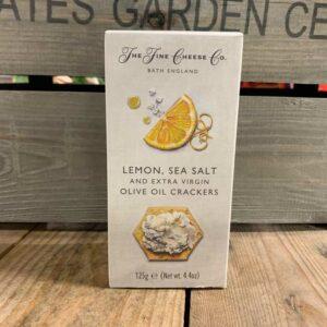Fine Cheese Lemon/Sea Salt & Ex Virgin O/Oil Crackers 125g