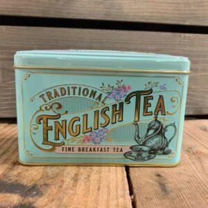 Vintage Victorian 40 Teabag Tin E/B