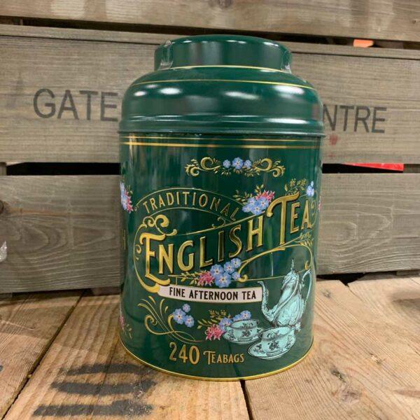 Vintage Victorian 240 Teabag Tin A/T