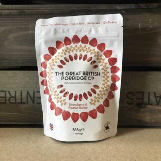 Great British Porridge Co, Strawberry & Peanut Butter Porridge 385g