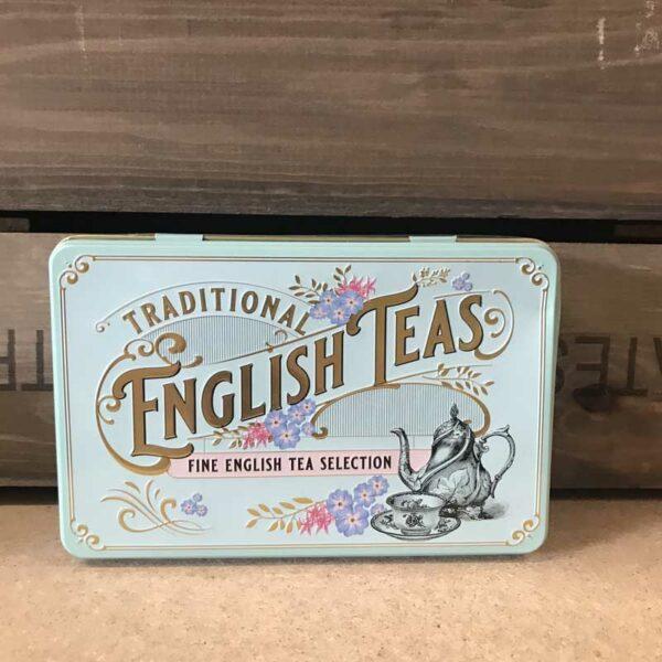 Vintage Victorian 72 Teabag Tin E/B