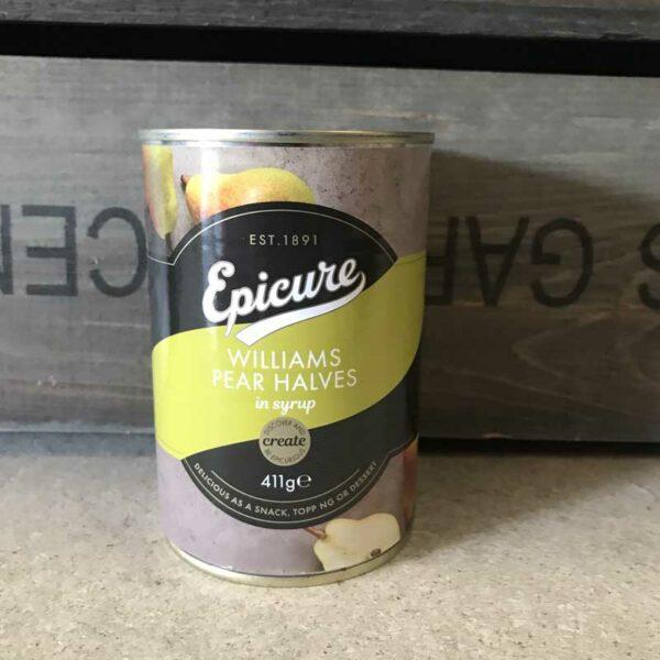 Epicure William Pear Halves in Fruit Juice 411g
