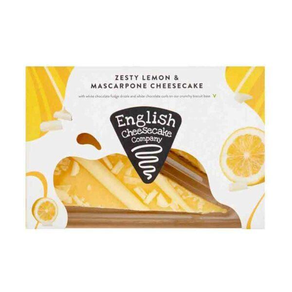 English Cheesecake Company Zesty Lemon & Mascarpone Cheesecake Slices (Pack of 2)