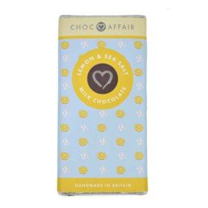 Choc Affair Lemon & Sea Salt Milk Chocolate (90g)