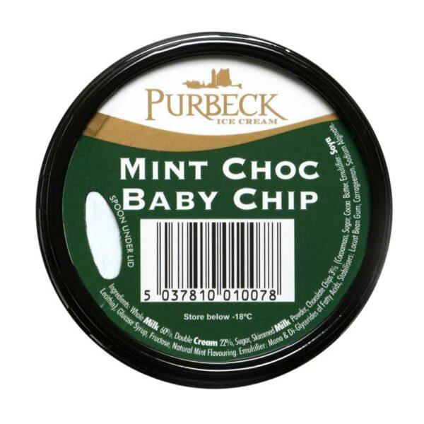 Purbeck Mint Choc Baby Chip Ice Cream (125ml)