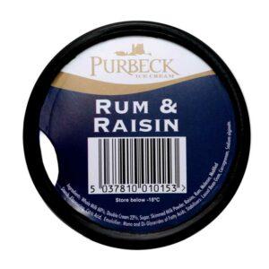 Purbeck Rum & Raisin Ice Cream (125ml)