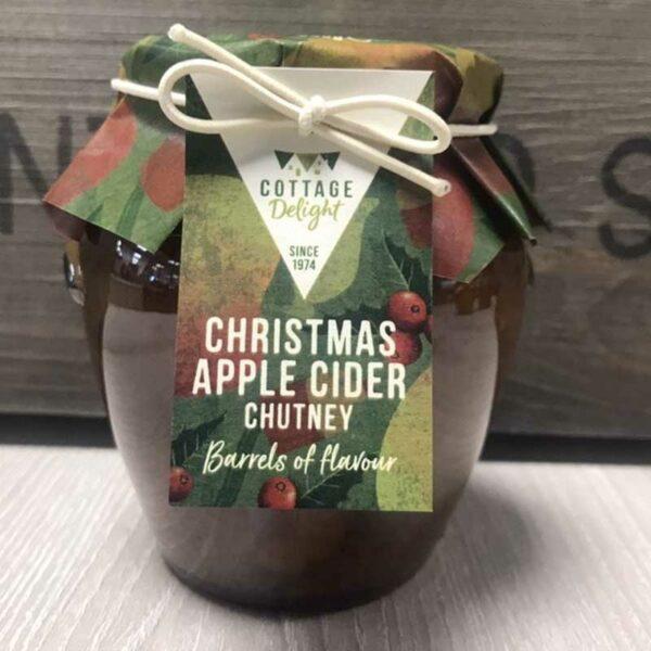 Cottage Delight Christmas Apple Cider Chutney (335g)