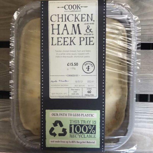 COOK Chicken Ham & Leek Pie