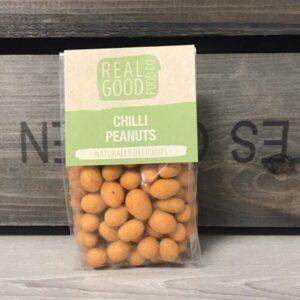Peanuts,Wheat, Flour, Sugar, Modified Corn Starch, Chilli Seasoning (Maltodextrin, Flavour, Yeast Extract, Herbs & Spices, Acidity Regulator: E260, E262, E296, E330, E270, Anti Caking Agent E551, Flavour Enhancer E635, Sunflower Oil, Salt, Colour: E160c Allergens: Peanuts & Wheat