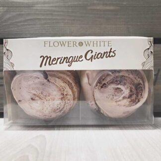 Flower & White Giant Chocolate Swiss Meringue (Pack of 2)