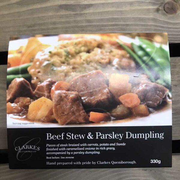 Clarkes Queniborough Beef Stew & Parsley Dumpling (330g)