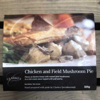 Clarkes Queniborough Chicken & Field Mushroom Pie (325g)