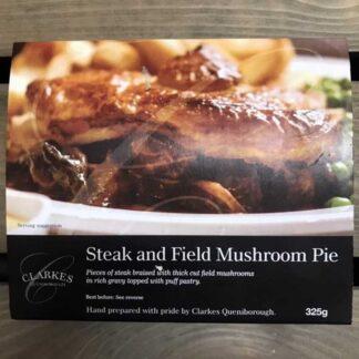 Clarkes Queniborough Steak & Field Mushroom Pie (325g)