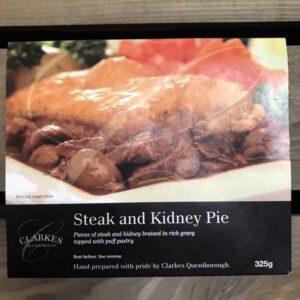 Clarkes Queniborough Steak & Kidney Pie (325g)