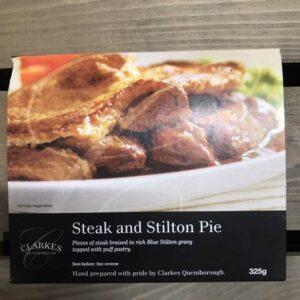 Clarkes Queniborough Steak & Stilton Pie (325g)