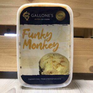 Gallone's Funky Monkey Ice Cream (1 Litre)