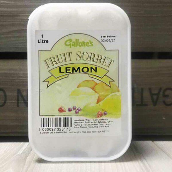 Gallone's Lemon Sorbet (1 Litre)