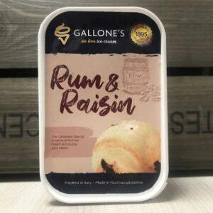 Gallone's Rum And Raisin Ice Cream (1 Litre)