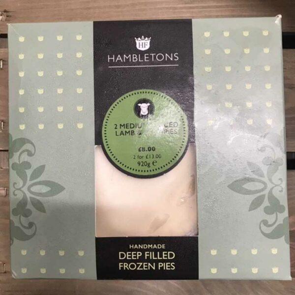 Hambletons Farms Medium Deep Filled Minced Lamb & Mint Pies (Pack of 2)
