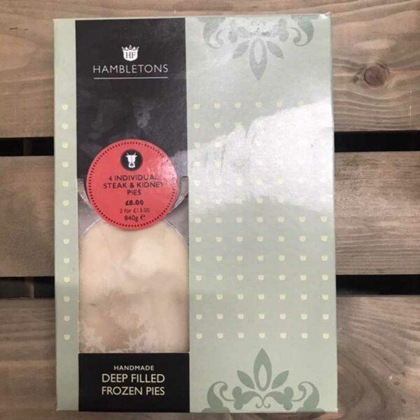 Hambletons Farms Deep Filled Steak & Kidney Pies (Pack of 4)
