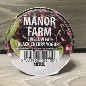 Manor Farm Low Fat Black Cherry Live Yogurt (125g)