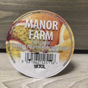 Manor Farm Low Fat Orange & Passionfruit Live Yogurt (125g)