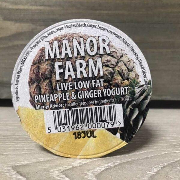 Manor Farm Low Fat Pineapple and Ginger Live Yogurt (125g)