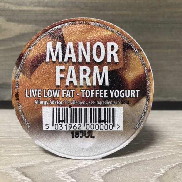 Manor Farm Low Fat Toffee Live Yogurt (125g)