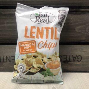 Eat Real Lentil Chips Mango & Mint 113g