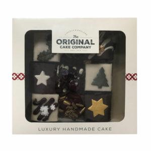 The Original Cake Company 9 Piece Christmas Chocolate Cake Selection
