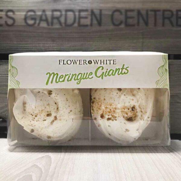 Flower & White Giant Pistachio Swiss Meringues (Pack of 2)