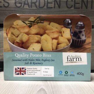 Cheshire Farm Potato Bites with Rosemary & Sea Salt (400g)