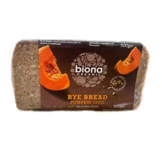 Biona Rye Pumpkin Seed Bread Organic (500g)